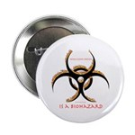 Inteligent Design Is A Biohazard - flame Button