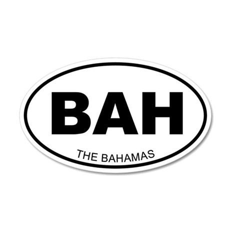 The Bahamas 20x12 Oval Wall Peel