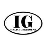 IG Italian Greyhound Sticker
