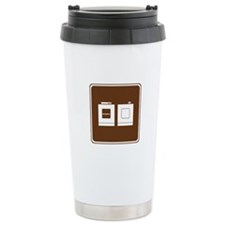 Laundry Sign Ceramic Travel Mug