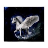 Pegasus Flying Horse Throw Blanket