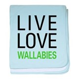 Live Love Wallabies baby blanket