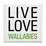 Live Love Wallabies Tile Coaster