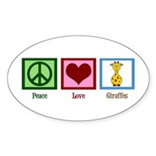 Peace Love Giraffes Decal