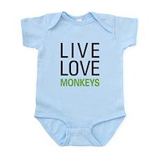 Live Love Monkeys Infant Bodysuit