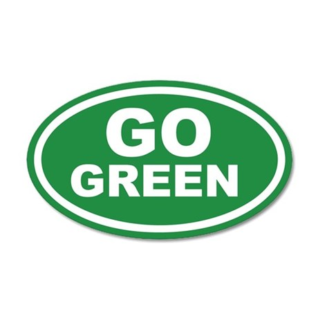 Go Green Euro 20x12 Oval Wall Peel
