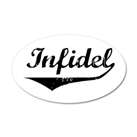 Infidel 35x21 Oval Wall Peel