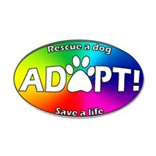 Adopt Sticker (White on Multi)