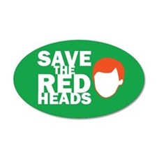 Save the Redheads 20x12 Oval Wall Peel