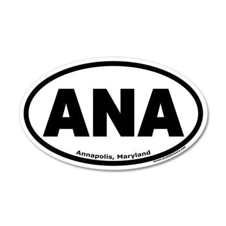 "Annapolis, Maryland ""ANA"" 35x21 Oval Wall Peel"