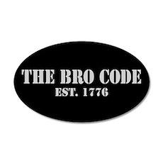 20x12 Oval Wall Peel Bro Code