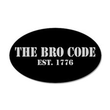 35x21 Oval Wall Peel Bro Code