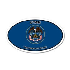 Utah State Flag 35x21 Oval Wall Peel