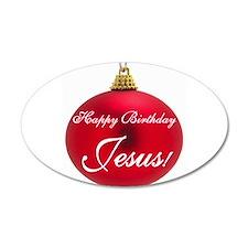 Happy Birthday Jesus 35x21 Oval Wall Peel