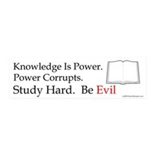 Study hard. Be Evil. 20x6 Wall Peel