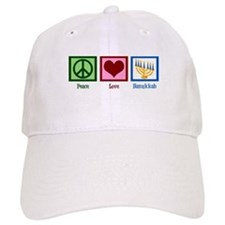 Peace Love Hanukkah Baseball Cap