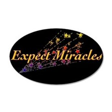Expect Miracles 35x21 Oval Wall Peel