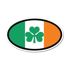 Irish Flag 20x12 Oval Wall Peel (Euro)