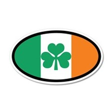 Irish Flag 20x12 Oval Wall Peel (Euro)