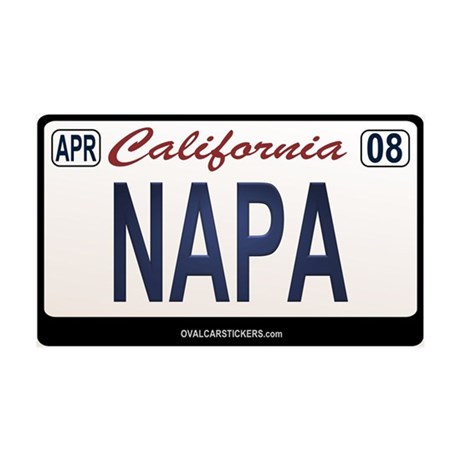 California License Plate Sticker - NAPA