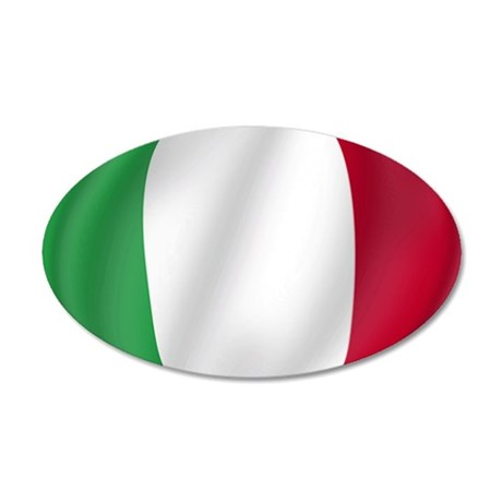 Pure Flag of Italy 20x12 Oval Wall Peel