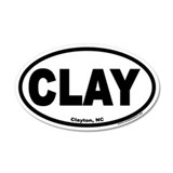 Clayton, NC &quot;CLAY&quot; 35x21 Oval Wall Peel