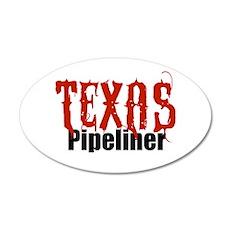 Texas Pipeliner 35x21 Oval Wall Peel