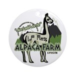 Alpaca Farm Ornament (Round)