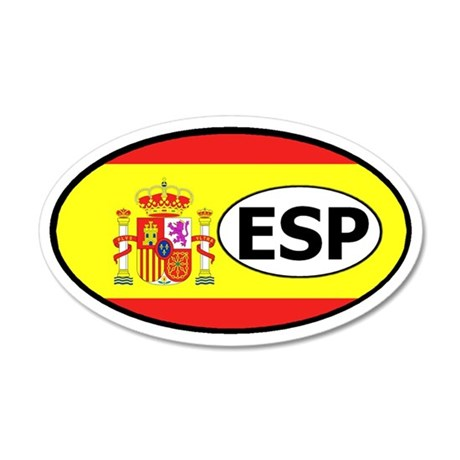 Spain Flag 20x12 Oval Wall Peel