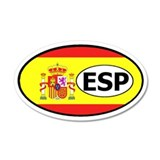 Spain Flag 35x21 Oval Wall Peel