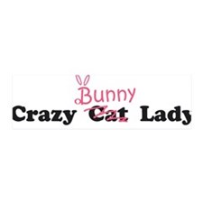crazy bunny lady 36x11 Wall Peel