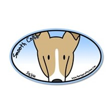 Anime Sable Smooth Collie 35x21 Oval Wall Peel
