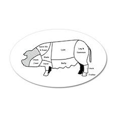 Pork Diagram 35x21 Oval Wall Peel