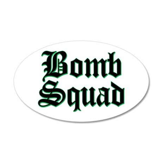 Bomb Squad 35x21 Oval Wall Peel