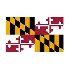 Maryland State Flag 35x21 Wall Peel