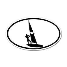 Windsurfing Sticker 2 (Oval)