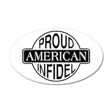 Proud American Infidel 20x12 Oval Wall Peel