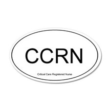 Critical Care Registered Nurse 20x12 Oval Wall Pee