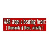 Stops a beating heart bumper sticker