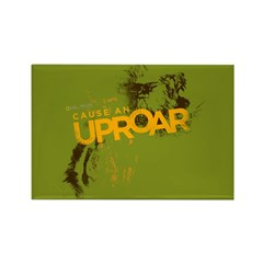 Lion Uproar Rectangle Magnet