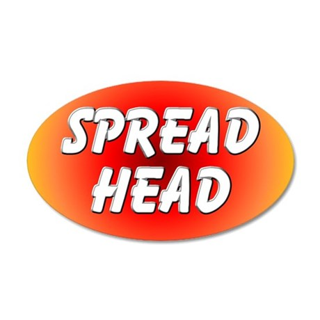 Spread Head 20x12 Oval Wall Peel