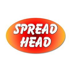 Spread Head 35x21 Oval Wall Peel