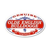 OLDE ENGLISH BULLDOGGE 35x21 Oval Wall Peel