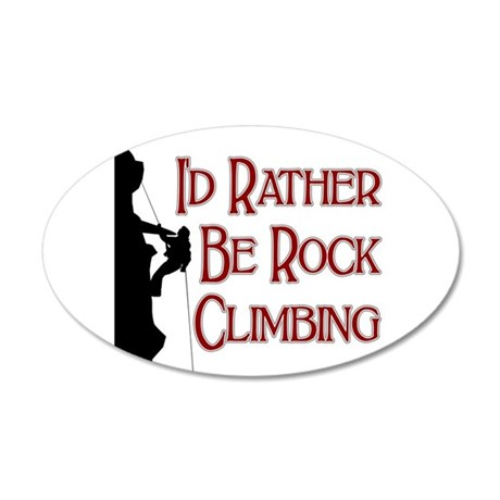 Rock Climbing 20x12 Oval Wall Peel