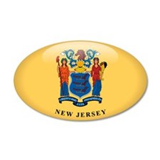 New Jersey 35x21 Oval Wall Peel