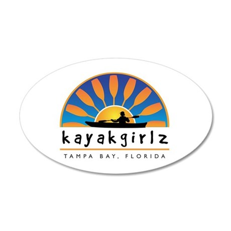 Kayakgirlz 20x12 Oval Wall Peel