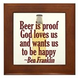 Beer is Proof Framed Tile