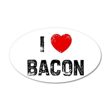 I * Bacon 35x21 Oval Wall Peel