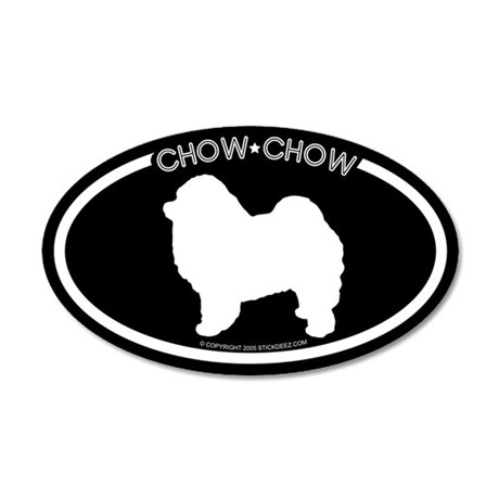 """Chow Chow"" Black 20x12 Oval Wall Peel"