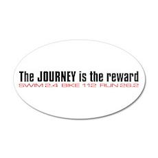 """Journey is the reward"" 20x12 Oval Wall Peel"